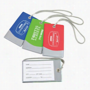 Bright Vinyl Spot Luggage Tag