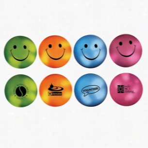 Multi Color Custom Mood Smiley Face Stress Ball