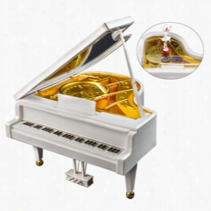 Piano W Ballerina Music Box