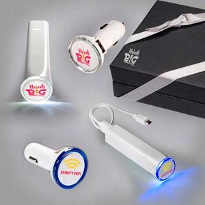 Power Stick & Round USB Car Charger Set