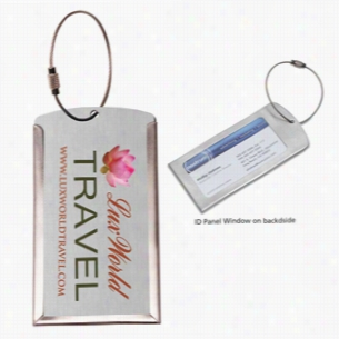 Prestige Metal Luggage Tag (PhotoImage 4 Color)