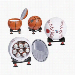 Sport Ball Design Mini Refrigerator and Warmer with Multi-Angle Base