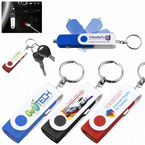 USB Car Charger & Adaptor With Detachable Swivel Keychain (PhotoImage 4 Color)