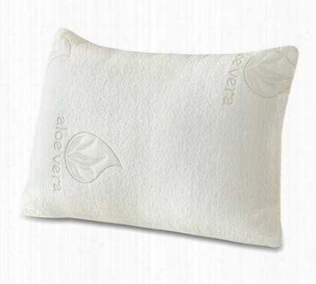 Aloe Vera Memory Foam Pillow 2 Pack Standard