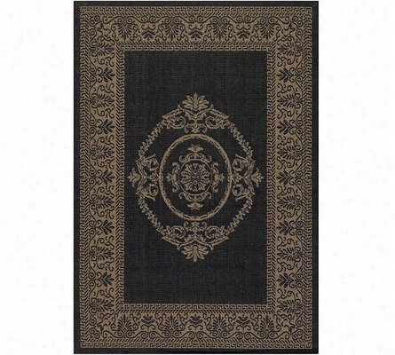 Antique Medallion Indoor/Outdoor Rug 45 X 65
