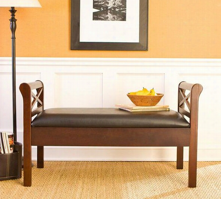 Faux Leather Bench One Size