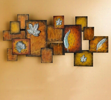 Leaves / Abstract Wall Art Panel One Size