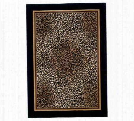 Leopard Rug 94 X 134