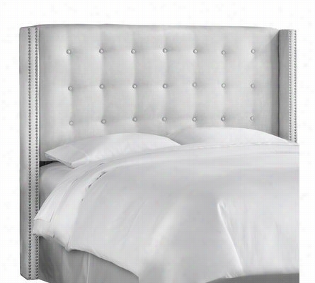 Nail Button Tufted Wingback Headboard Full
