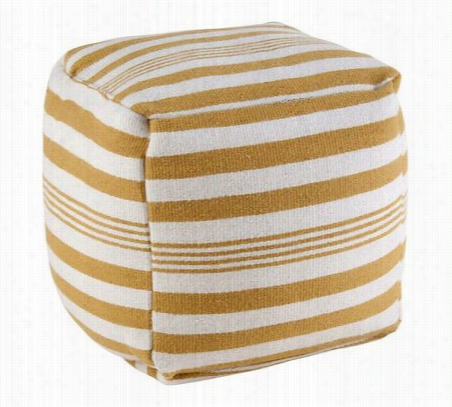 Rizzy Home Striped Wool Square Pouf One Size