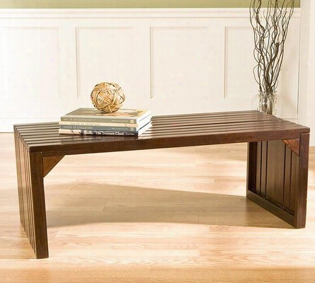 Slat Bench Table One Size