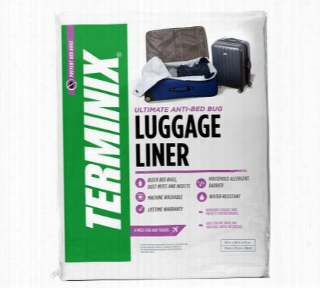 Terminix Bed Bug Proof Travel Luggage Liner Protector Travel