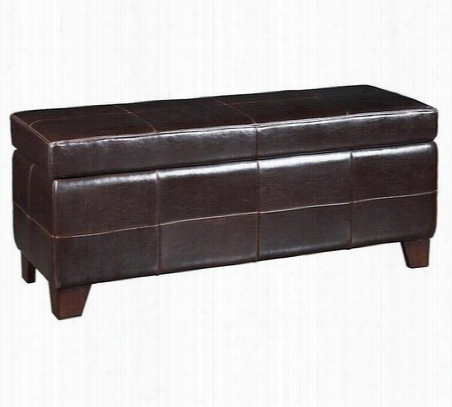 Upholstered Milano Storage Bench One Size