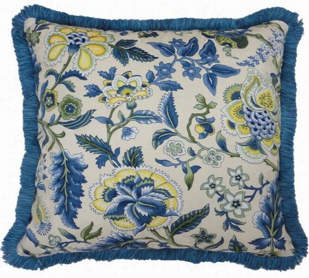 Waverly Imperial Dress 18 Inch Decorative Pillow with Fringe Standard