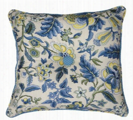 Waverly Imperial Dress Garden Path Square Button Tufted Pillow Standard