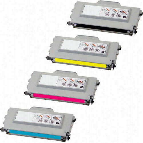 4 Pack - Premium compatible replacement toner cartridge replacement set for Brother TN04 - High Yield. Set includes 1 Black, 1 Cyan, 1 Magenta and 1 Yellow toner cartridge