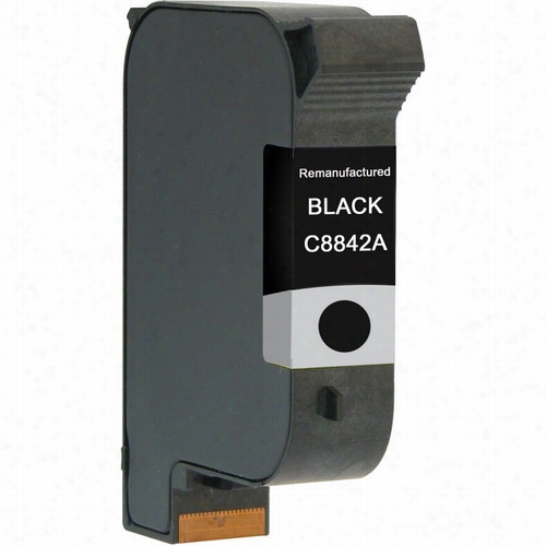 Premium remanufactured replacement Black ink cartridge for HP C8842A