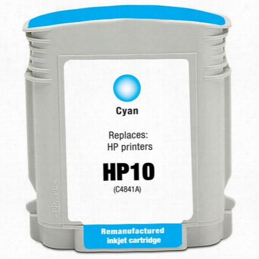 Premium remanufactured replacement Cyan ink cartridge for HP 10 (C4841A)