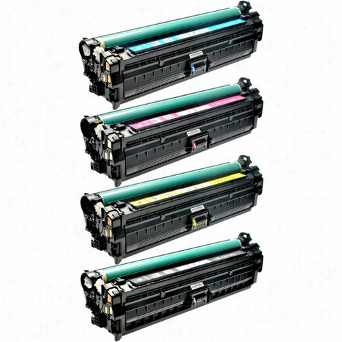 4 Pack - Premium remanufactured replacement toner cartridge for HP 307A. Set includes 1 Black, 1 Cyan, 1 Magenta and 1 Yellow toner cartridge