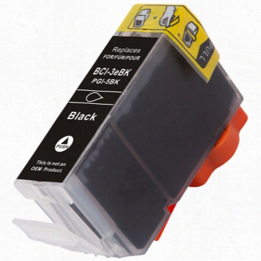 Premium compatible replacement Black ink cartridge for Canon BCI-6BK (4705A003)