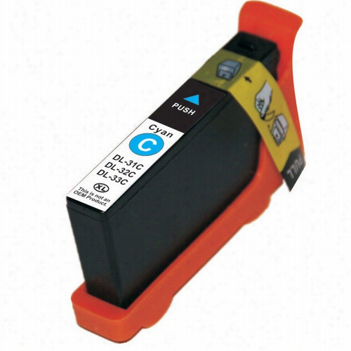 Premium compatible replacement Cyan ink cartridge for Dell series 33 (331-7378)