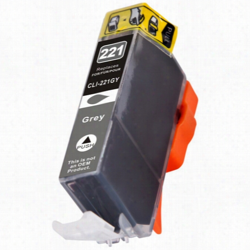 Premium compatible replacement Gray ink cartridge for Canon Cli-221G (2950B001)