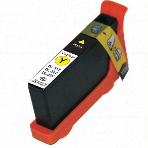Premium compatible replacement Yellow ink cartridge for Dell series 33 (331-7380)