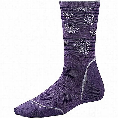 Smartwool Women's PhD Outdoor Ultra Light Pattern Crew Sock