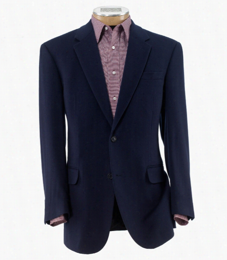 Executive 2-Button Wool/Cashmere Sportcoat Big and Tall