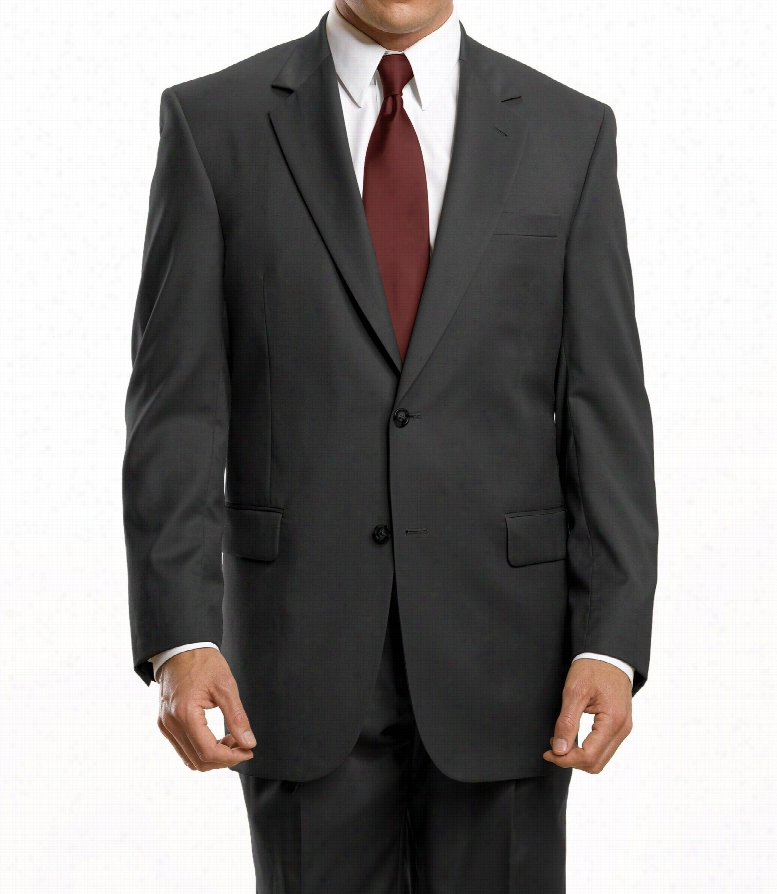 Signature 2-Button Wool Suit with Pleat Front Trousers
