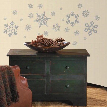 Glitter Snowflakes Wall Decals