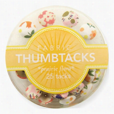 Fabric Thumbtacks - Prarie Flora