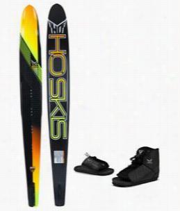 HO Freeride Slalom Ski w/ Freemax/Adjustable Rear Toe Bindings