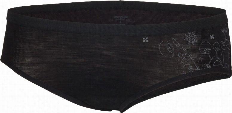 Icebreaker Siren Hipkini Botanical Underwear Black