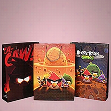 12ea - Angry Birds Paper Handle Bag (Assorted) -Large