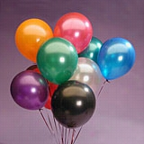 "144ea - 12"" Assorted Metallic Latex Balloon"