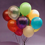 "144ea - 12"" Assorted Transparent Latex Balloon"