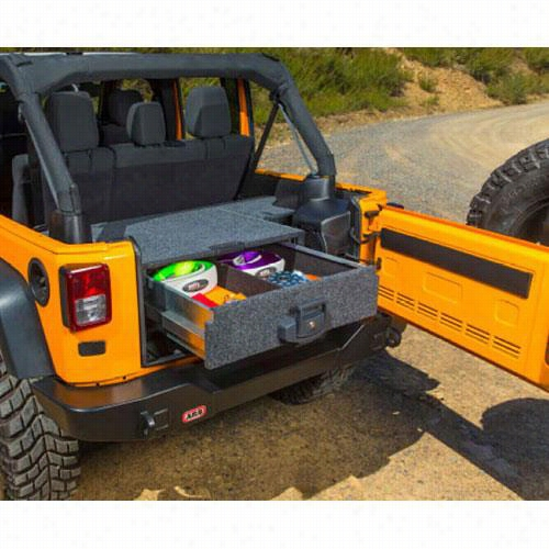 ARB 4x4 Accessories Outback Solutions Modular Roller Drawer System with Plastic Trim and Inegrated Subwoofer 5012010 Cargo Drawer