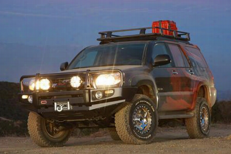 2006 TOYOTA 4RUNNER ARB 4x4 Accessories Black Toyota 4 Runner Deluxe Bull Bar Winch Mount Bumper