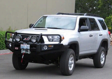 2010 TOYOTA 4RUNNER ARB 4x4 Accessories Black Toyota 4 Runner Deluxe Bull Bar Winch Mount Bumper