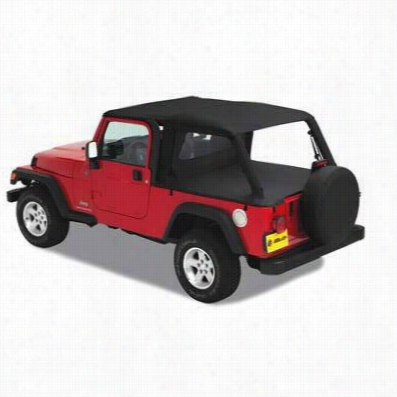 Bestop Header Safari Style Jeep Bikini Top in Black Diamond 52544-35