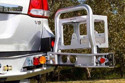 2007 TOYOTA LAND CRUISER ARB 4x4 Accessories Toyota Land Cruiser Rear Right Wheel Carrier Option in Black Powder Coat