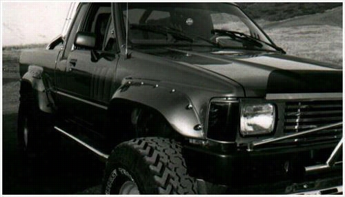 1984 TOYOTA PICKUP Bushwacker Toyota Cut-Out Rear Fender Flares