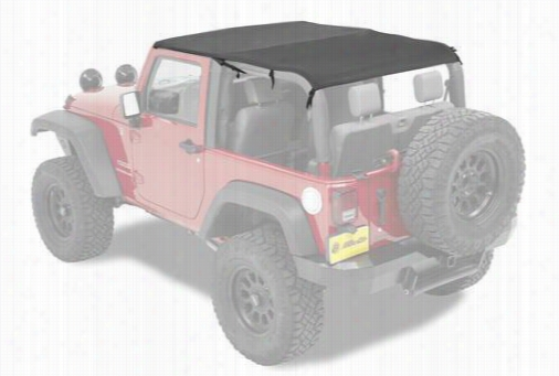 Bestop Safari Jeep Bikini Top & Windshield Channel in Black 52593-35