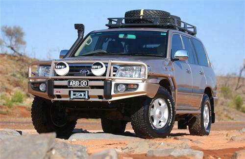 2003 TOYOTA LAND CRUISER ARB 4x4 Accessories Black Toyota Land Cruiser Bull Bar Winch Mount Bumper