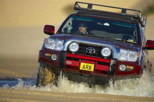 2008 TOYOTA LAND CRUISER ARB 4x4 Accessories Toyota Land Cruiser Sahara Bar Winch Bumper in Grey Powder Coat