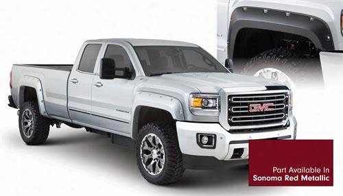 2015 GMC SIERRA 2500 HD Bushwacker GMC Sierra Pocket Style Fender Flare Set in Sonoma Red Metallic