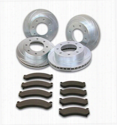 Stainless Steel Brakes Rotor Kit - Short Stop - Turbo Slotted Rotor & Pad Kit A2361066 Disc Brake Pad and Rotor Kits