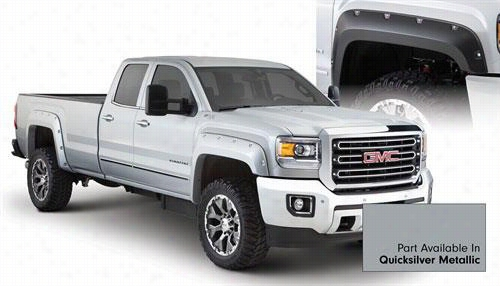 2015 GMC SIERRA 2500 HD Bushwacker GMC Sierra Pocket Style Fender Flare Set in Quicksilver Metallic