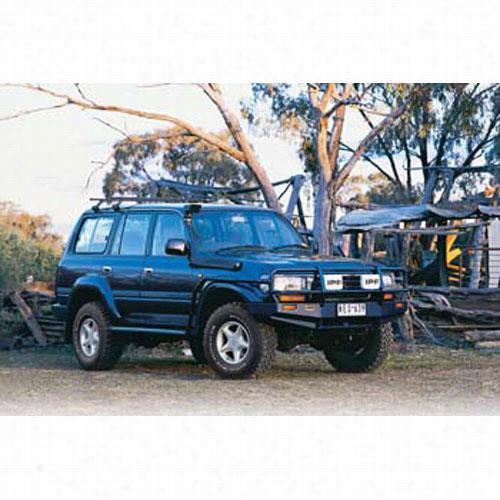 1990 TOYOTA LAND CRUISER ARB 4x4 Accessories Black Toyota Land Cruiser Bull Bar Winch Mount Bumper